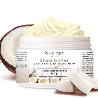 Masło do ciała 100% Naturalne Shea Butter Kokosowe 200ml e-FIORE