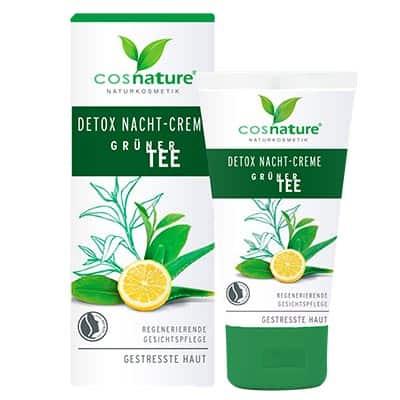 Naturalny krem DETOX na noc z zieloną herbatą 50ml Cosnature