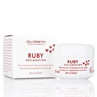 Ruby Exclamation – serum przeciwstarzeniowe z proszkiem rubinowym 50 ml Cell Cosmetics