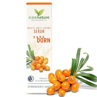 Naturalne multiwitaminowe przeciwzmarszczkowe serum z rokitnikiem 30ml Cosnature