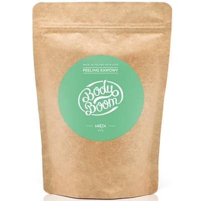 BODY BOOM Peeling kawowy Rześka Mięta 200g