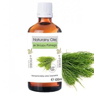 Macerat olej ze SKRZYPU POLNEGO wzmacnia skórę, włosy i paznokcie 100ml e-FIORE