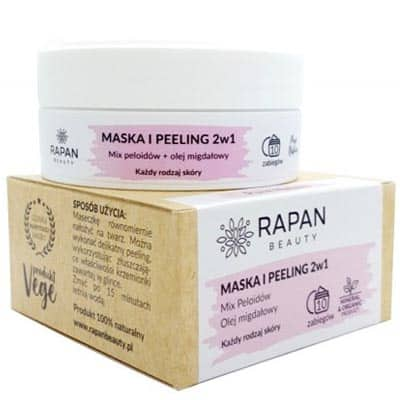 Maska i peeling 2w1 Pure Nature Intensive Care 10 zabiegów Rapan beauty