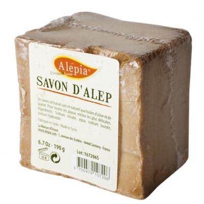 Mydło Alep w celofanie 1%, 99% oliwy z oliwek 190g Alepia