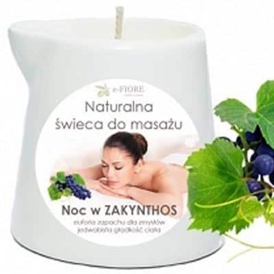 Naturalna Świeca do masażu noc w Zakynthos 130ml e-FIORE