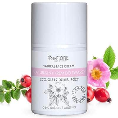 Naturalny krem do twarzy z Dziką Różą ujędrniający z olejkami 50ml e-Fiore