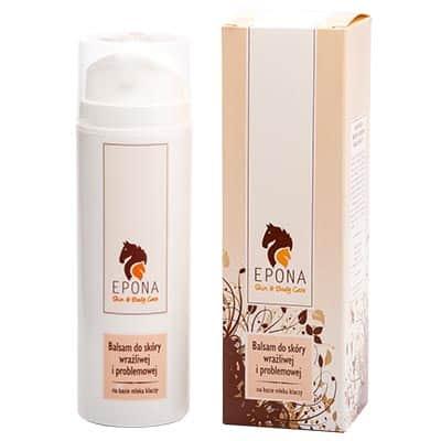 Balsam z mlekiem klaczy do skóry wrażliwej i problemowej 150ml Epona Cosmetics