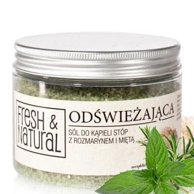 ODŚWIEŻAJĄCA sól do kąpieli stóp z rozmarynem i miętą 500g Fresh&Natural