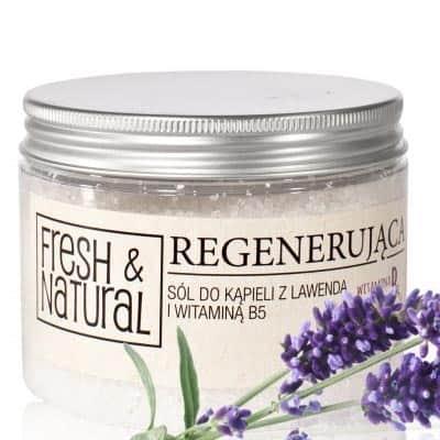 REGENERUJĄCA sól do kąpieli z lawendą i witaminą B5 500g Fresh&Natural