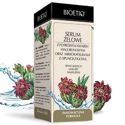 Serum żelowe z potrójnym kwasem hialuronowym i mikrokapsułkami z olejem z opuncji figowej Bioetiq