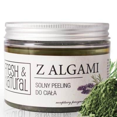 Solny peeling do ciała Z ALGAMI 550g Fresh&Natural