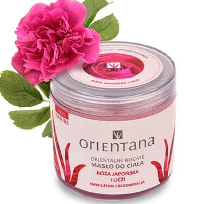 Naturalne orientalne bogate masło do ciała Róża Japońska i Liczi 100g Orientana