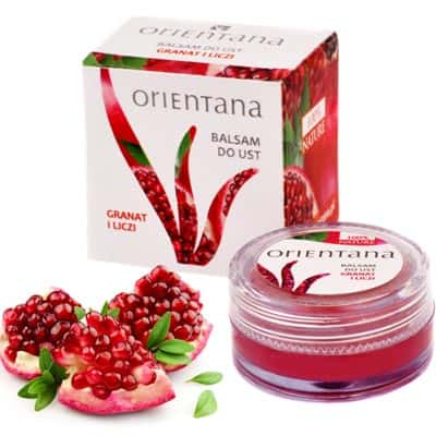 Naturalny balsam do ust Granat i Liczi 8g Orientana