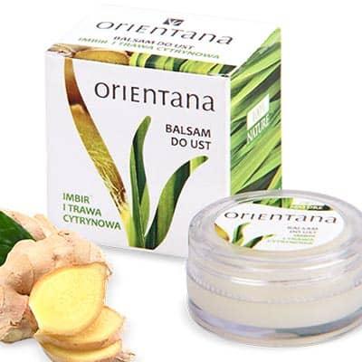 Naturalny balsam do ust Imbir i Trawa cytrynowa 8g Orientana