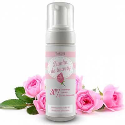 Odmładzająca pianka do mycia twarzy z Różą Damasceńską 150ml e-FIORE
