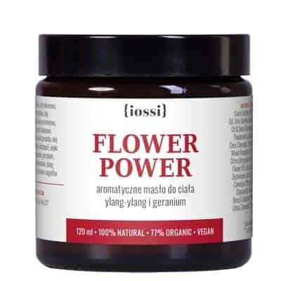 Masło do ciała Flower Power. Aromatyczne masło do ciała z Ylang-Ylang i Geranium 120ml IOSSI