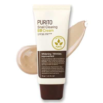 Snail Clearing BB Cream-Krem BB ze śluzem ślimaka 27 Sand beige 30ml Purito