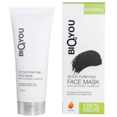 Detoksykująca maska oczyszczająca z węglem aktywowanym, kwasem hialuronowym i rokitnikiem 75ml BIO2YOU