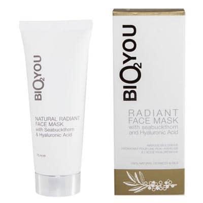 Intensywnie nawilżająco-oczyszczająca maska rozświetlająca z kaolinem, aloesem, olejem kokosowym, kwasem hialuronowym i rokitnikiem 75ml BIO2YOU