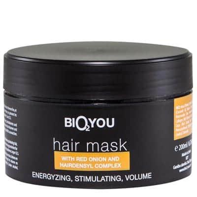 Regeneracyjna maska naprawcza do włosów z Kompleksem Hairdensyl i ekstraktem z czerwonej cebuli 200ml BIO2YOU HairPro