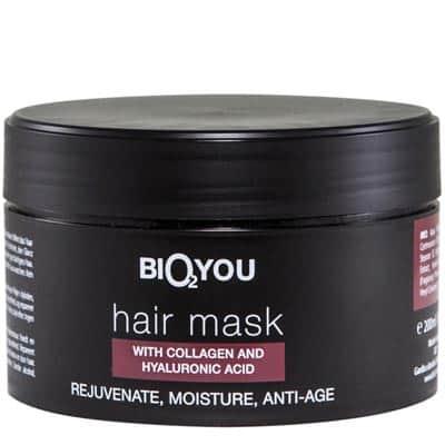 Regeneracyjna maska nawilżająca do włosów z kolagenem i kwasem hialuronowym 200ml BIO2YOU HairPro
