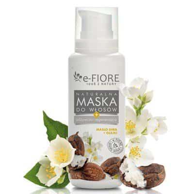 Masło Shea i Oleje Maska do włosów zniszczonych naturalnie odżywcza 200ml e-Fiore