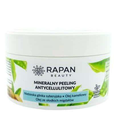 Mineralny peeling antycellulitowy niebieska glinka+zielona herbata 350g Rapan beauty