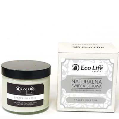 "Naturalna świeca sojowa aromaterapia ""Spacer po lesie"" 450g Eco Life"