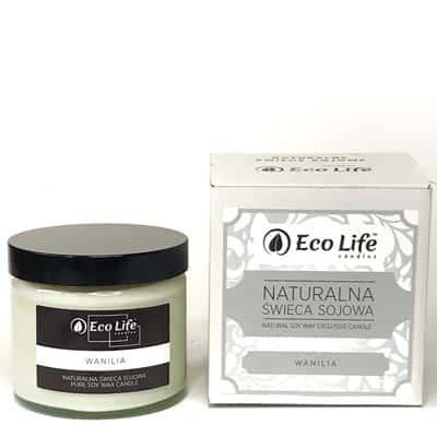 Naturalna świeca sojowa zapachowa Wanilia 450g Eco Life