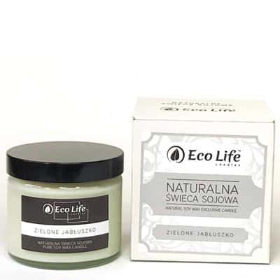Naturalna świeca sojowa zapachowa Zielone jabłuszko 450g Eco Life
