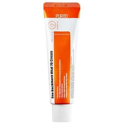 Sea Buckthorn Vital 70 Cream – Rozświetlający krem dla szarej skóry 50ml Purito