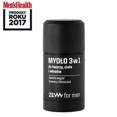 Mydło 3 w 1 do twarzy, ciała i włosów z węglem drzewnym 85ml ZEW For Men