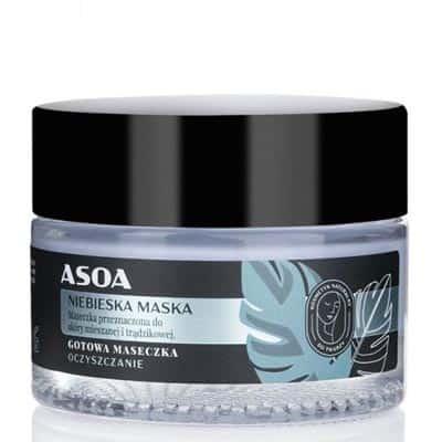 Gotowa maseczka do twarzy – niebieska glinka 50ml ASOA