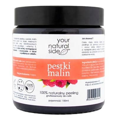 Peeling z pestek malin – gruboziarnisty 100ml Your Natural Side