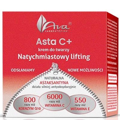 Asta C+Krem do twarzy na dzień natychmiastowy lifting 50ml AVA