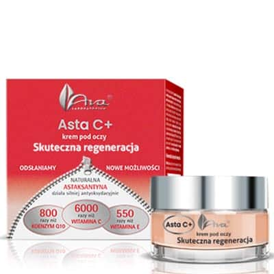 Asta C+Krem pod oczy Skuteczna regeneracja 15ml AVA