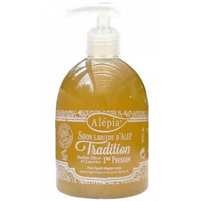 Mydło Alep w płynie z pompką tradition 1% olejku laurowego 500ml Alepia