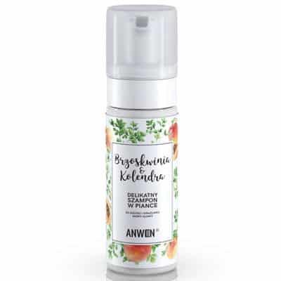 Pianka-szampon Brzoskwinia i Kolendra-do suchej i wrażliwej skóry głowy 170ml Anwen