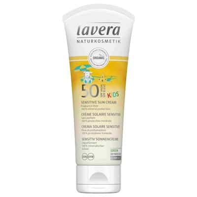 Krem do opalania dla dzieci Sensitiv Kids Sunscreen SPF 50 z olejem karanja 75ml Lavera