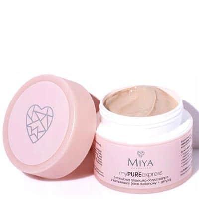 Maseczka oczyszczająca 5-minutowa z kompleksem (5% kwas azelainowy + glicyna) – myPUREexpress 50g Miya Cosmetics