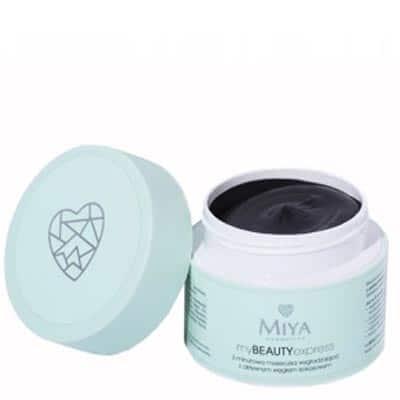 Maseczka wygładzająca 3-minutowa z aktywnym węglem kokosowym – myBEAUTYexpress 50g Miya Cosmetics