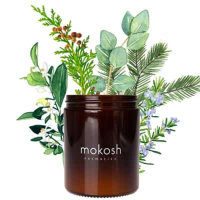 Roślinna świeca sojowa Jodłowy bór 140g Mokosh