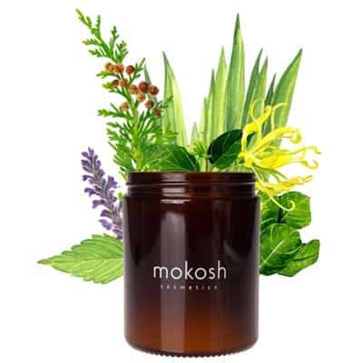 Roślinna świeca sojowa Orientalny ogród 140g Mokosh