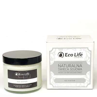 """Naturalna świeca sojowa aromaterapia """"Na komary"""" 450g Eco Life"""