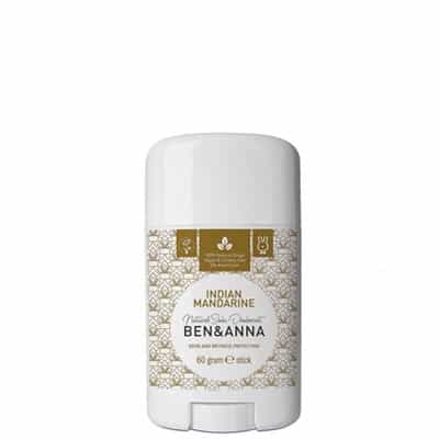 BEN&ANNA Naturalny dezodorant na bazie sody Indian Mandarine (sztyft plastikowy) 60g