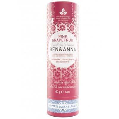 BEN&ANNA Naturalny dezodorant na bazie sody Pink Grapefruit (sztyft kartonowy) 60g