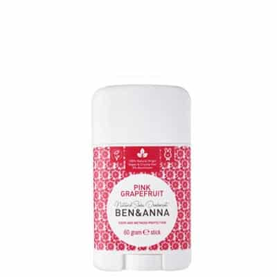 BEN&ANNA Naturalny dezodorant na bazie sody Pink Grapefruit (sztyft plastikowy) 60g
