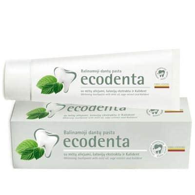 Ecodenta Pasta do zębów wybielająca z olejkiem miętowym, ekstraktem szałwiowym i bioaktywnym wapniem 100ml