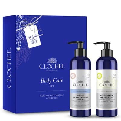 Zestaw Body Care Set II (Orzeźwiający olejek do mycia ciała+Lekki balsam nawilżający sól himalajska) Clochee