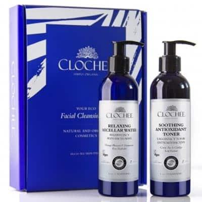 Zestaw Facial Cleansing Set (Relaksujący płyn micelarny+Tonik antyoksydacyjny) Clochee